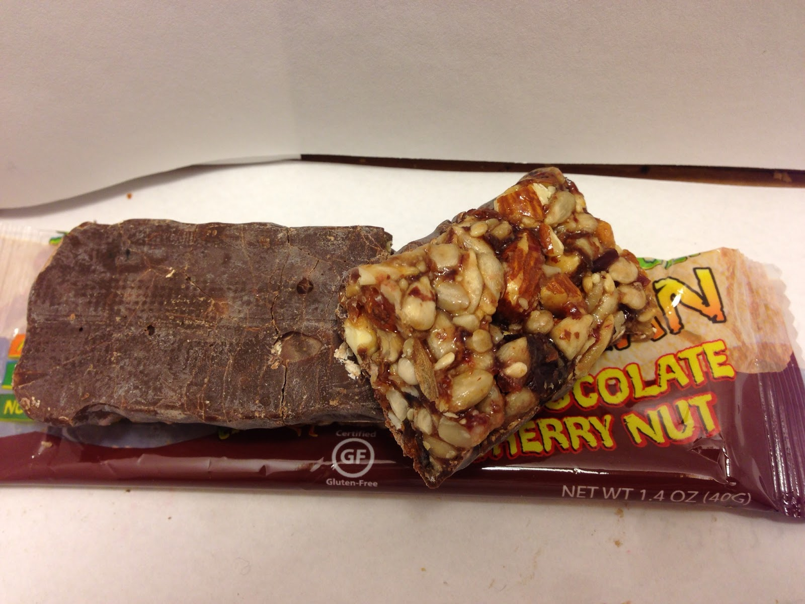 Caveman Food Bars : Crazy food dude: review: caveman dark chocolate cherry nut bar