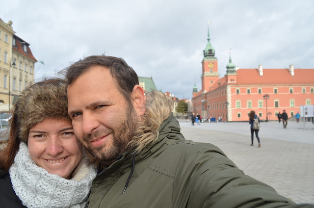 Chris e Pri na capital da Polônia