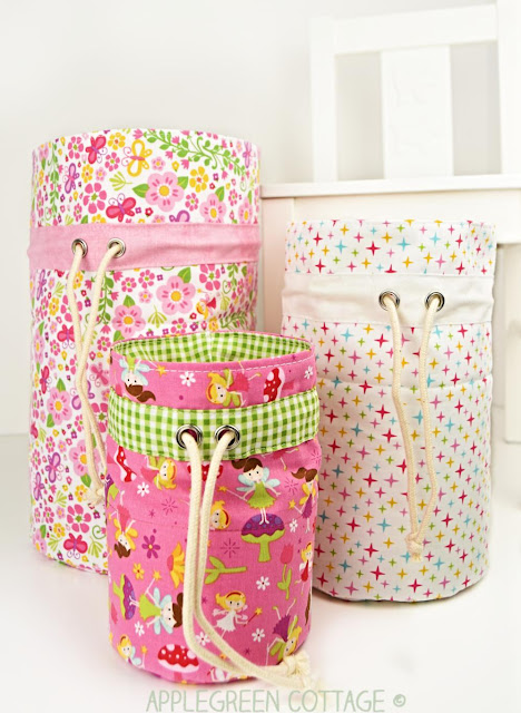diy fabric bins for toy storage