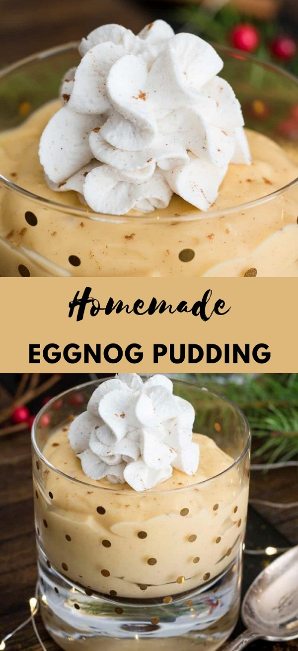 Homemade Eggnog Pudding