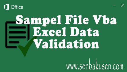 Kumpulan Sampel File Vba Excel Data Validation