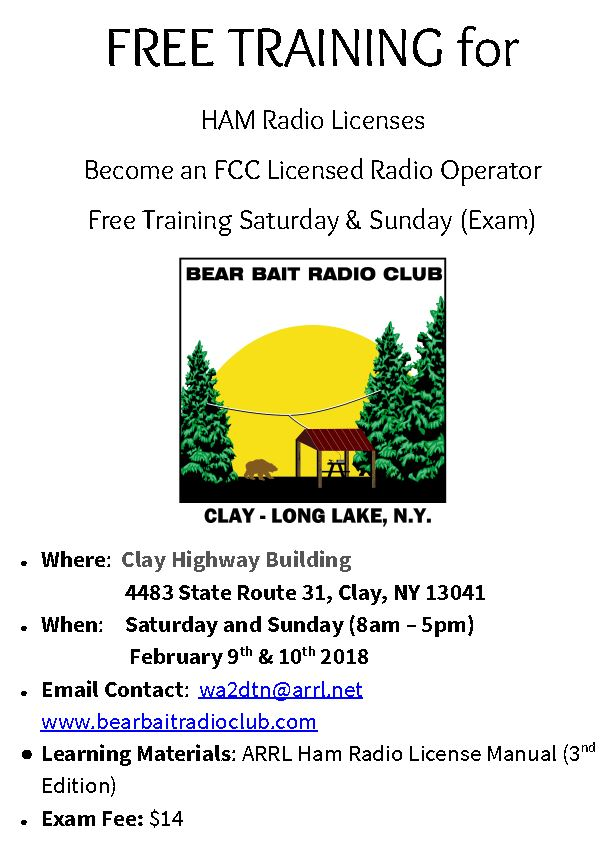 Upstate NY HAM Radio News & Information: 2018