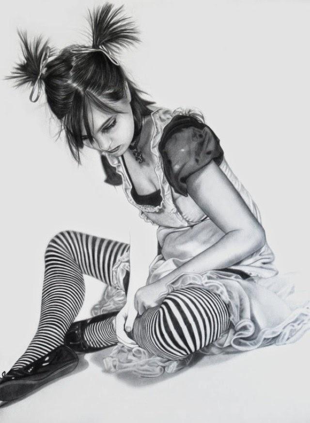 Реалистичных рисунки карандашом. Eddy Chang