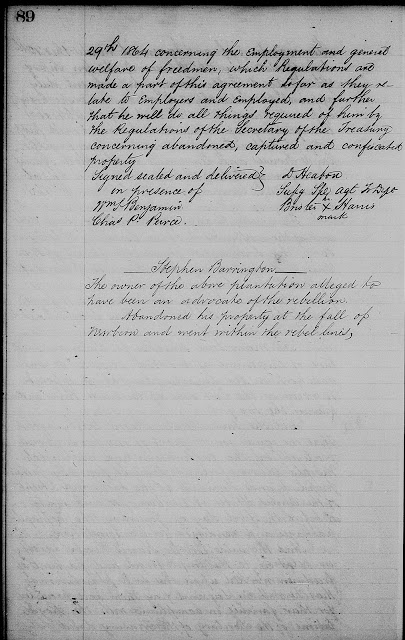 Amanuensis Monday: Brister/Bristow Harris Found In Freedmen's Bureau, Land and Property Records  --How Did I Get Here? My Amazing Genealogy Journey