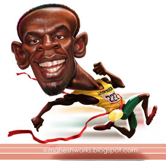 Usain Bolt por Mahesh Nambiar