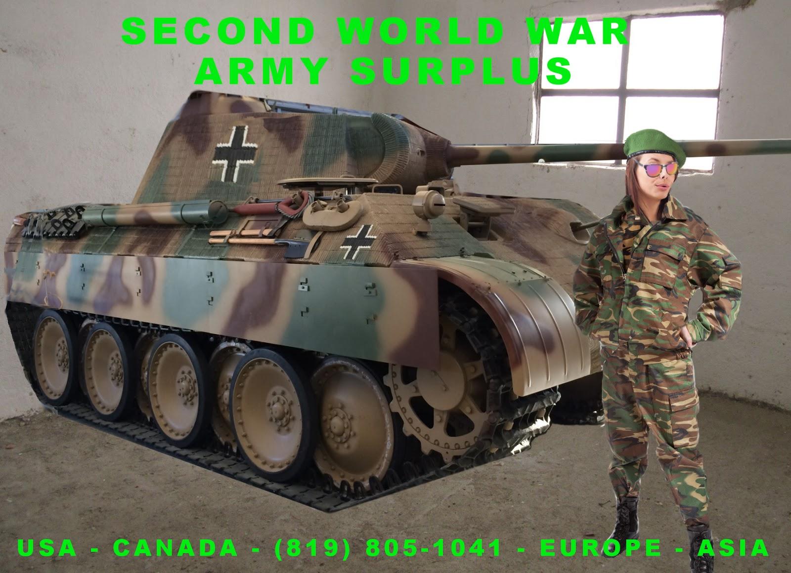 SURPLUS ARMY SECOND WORLD WAR MILITARY DEPOSIT - SURPLUS ARMÉE
