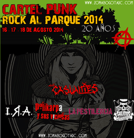Cartel de Punk Rock al parque 2014