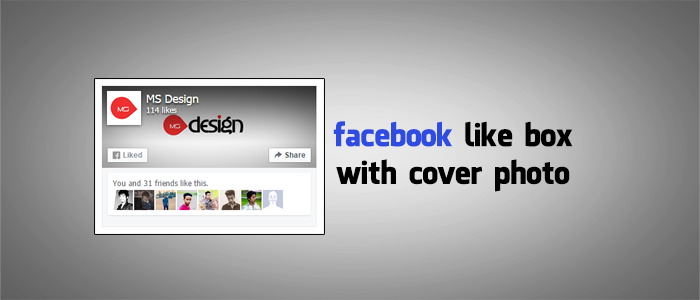 Add Facebook Like box with Cover Photo in Blogger