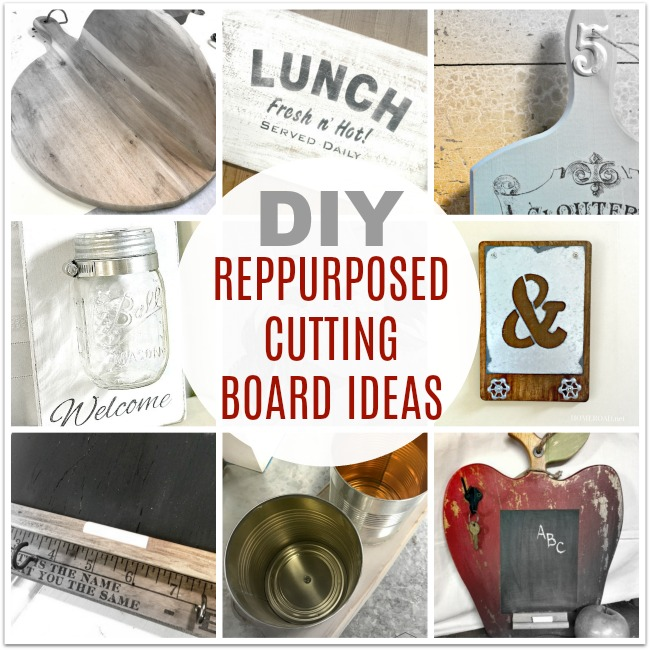 collage of cutting board projects
