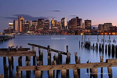 Boston harbor skyline images