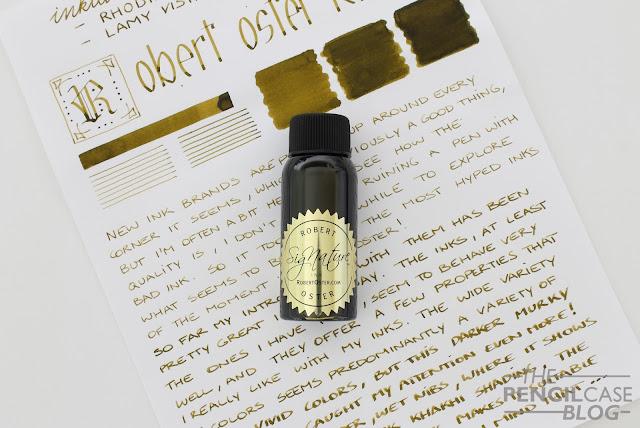 Robert oster Khakhi fountain pen ink review