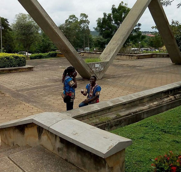 Man proposes to his undergraduate girlfriend at FUNAAB