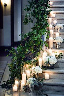 hää koristelu portaat kynttilä