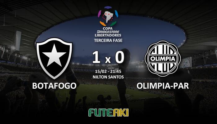 Veja o resumo da partida com os gols e os melhores momentos de Botafogo 1x0 Olimpia-PAR pela Terceira Fase da Libertadores 2017.
