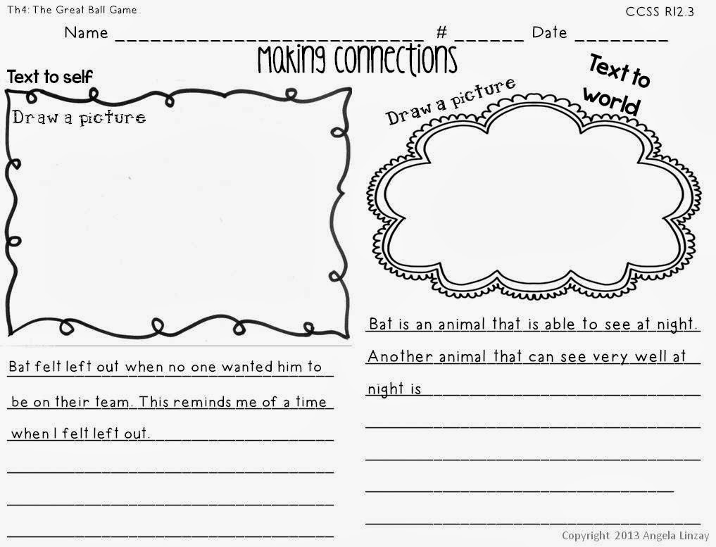 A New Product – Text to Text Connections Worksheet