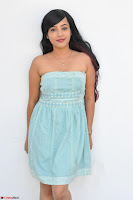Sahana New cute Telugu Actress in Sky Blue Small Sleeveless Dress ~  Exclusive Galleries 024.jpg