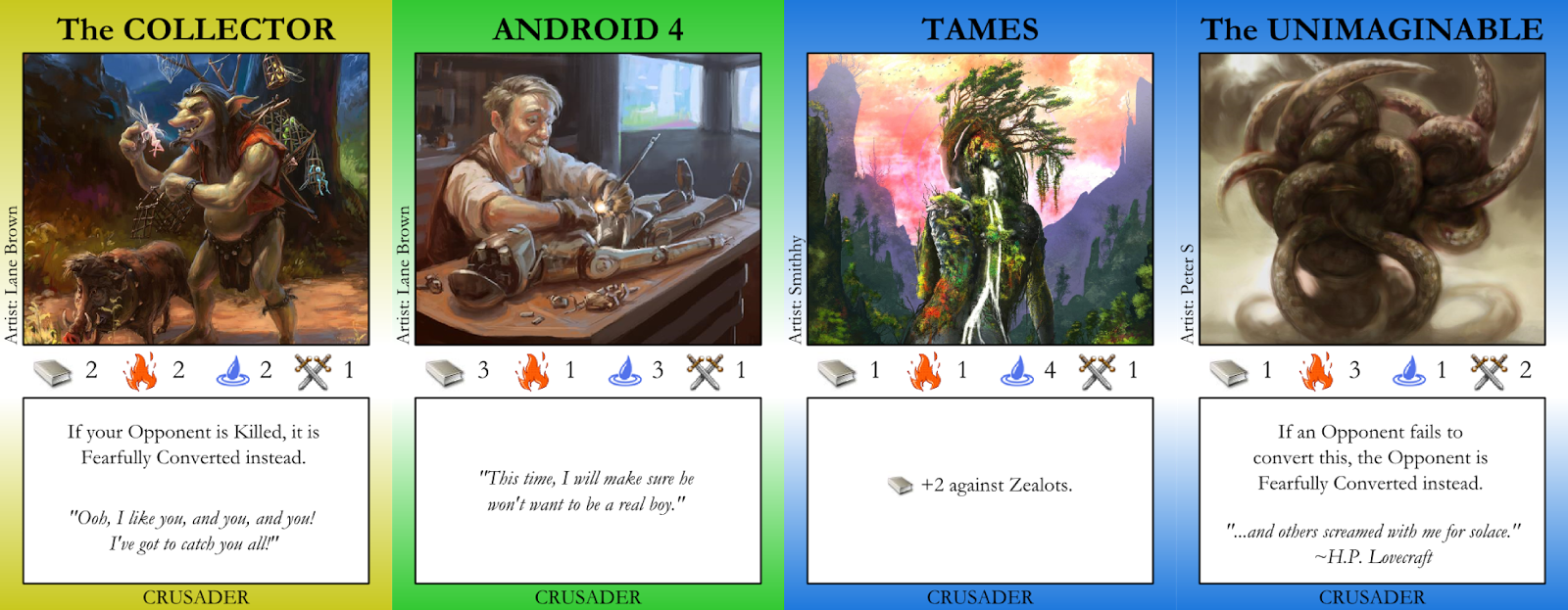 The Collector, Android 4, Tames, Teh Unimaginable