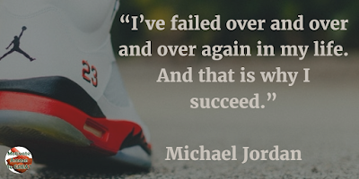 "71 Quotes About Life Being Hard But Getting Through It: ""I've failed over and over and over again in my life. And that is why I succeed."" - Michael Jordan"