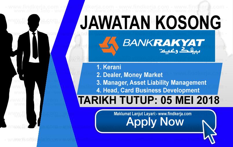 Jawatan Kerja Kosong Bank Rakyat logo www.findkerja.com mei 2018
