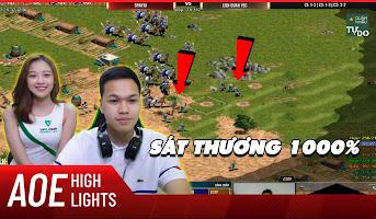 AoE Highlight | Shang đầu cánh đánh cung cân map cực mạnh của Chim Sẻ