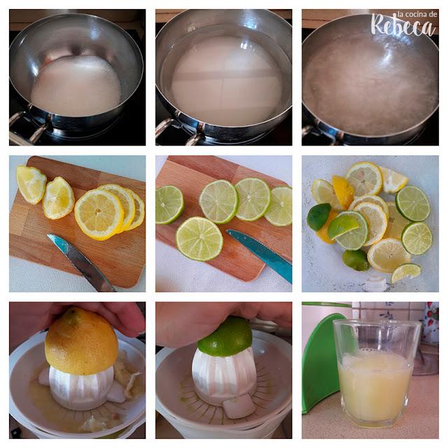 Receta de limonada (o agua de limón) 01