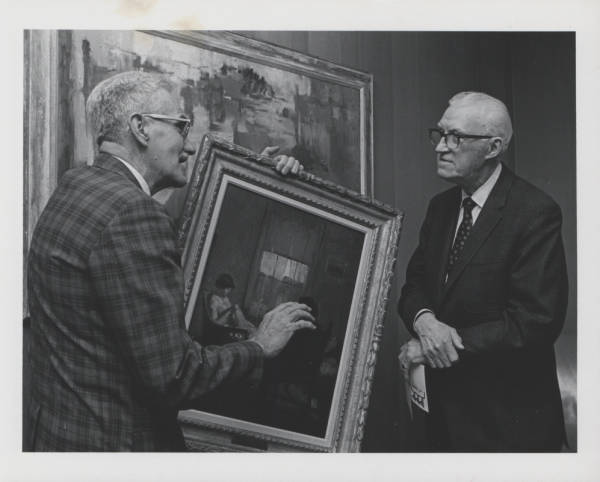Curator Francis J. Quirk with Ralf Wilson Lehigh University Alumni