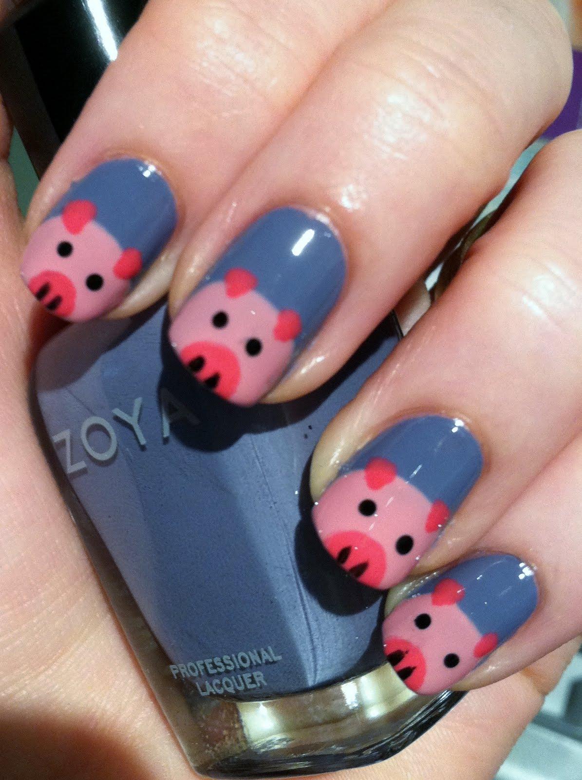 10 Pretty Pig Nail Art Designs