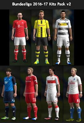 PES 2013 Bundesliga 2016-17 Kits Pack v2 by PES Gear