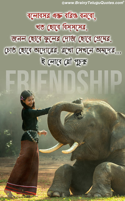 friendship messages in bengali, bengali friendship value quotes hd wallpapers
