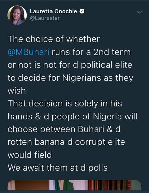 Lauretta Onochie says President Buhari