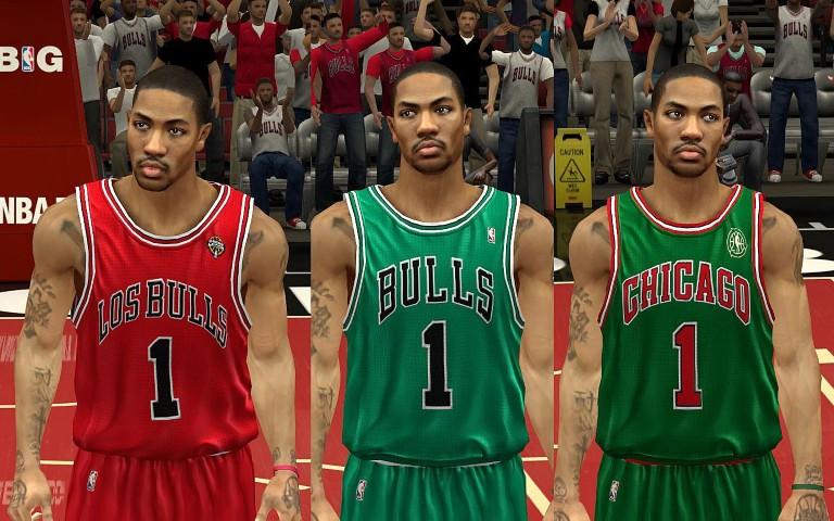 ... official nba 2k13 chicago bulls christmas jersey mod 36826 d30a5 ... 1aa30a28a