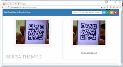 Cara membaca QR Code Menggunakan WebCam Dengan Jquery gratis Source Code dan Script