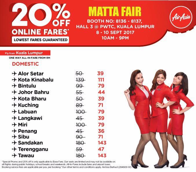 Airasia 20 Off Online Fares Full Promo Price List Matta