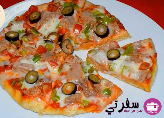 البيتزا بالعجينة السحرية فاطمه ابو حاتى