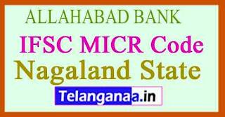 ALLAHABAD BANK IFSC MICR Code Nagaland State