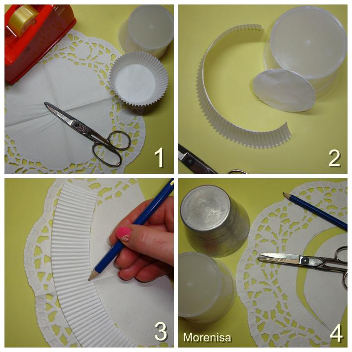 La cocina de morenisa como decorar capsulas de magdalenas con blondas de papel - Moldes papel magdalenas ...