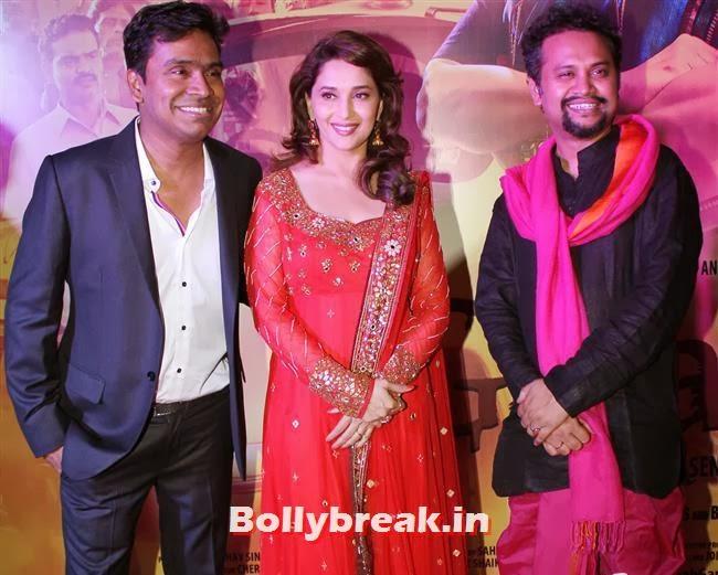 Mushtaq Sheikh, Madhuri Dixit and Soumik Sen, Gulaab Gang Movie Premiere Pics