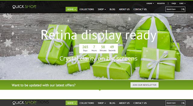 Mẫu thiết kế web bán hàng – Quickshop