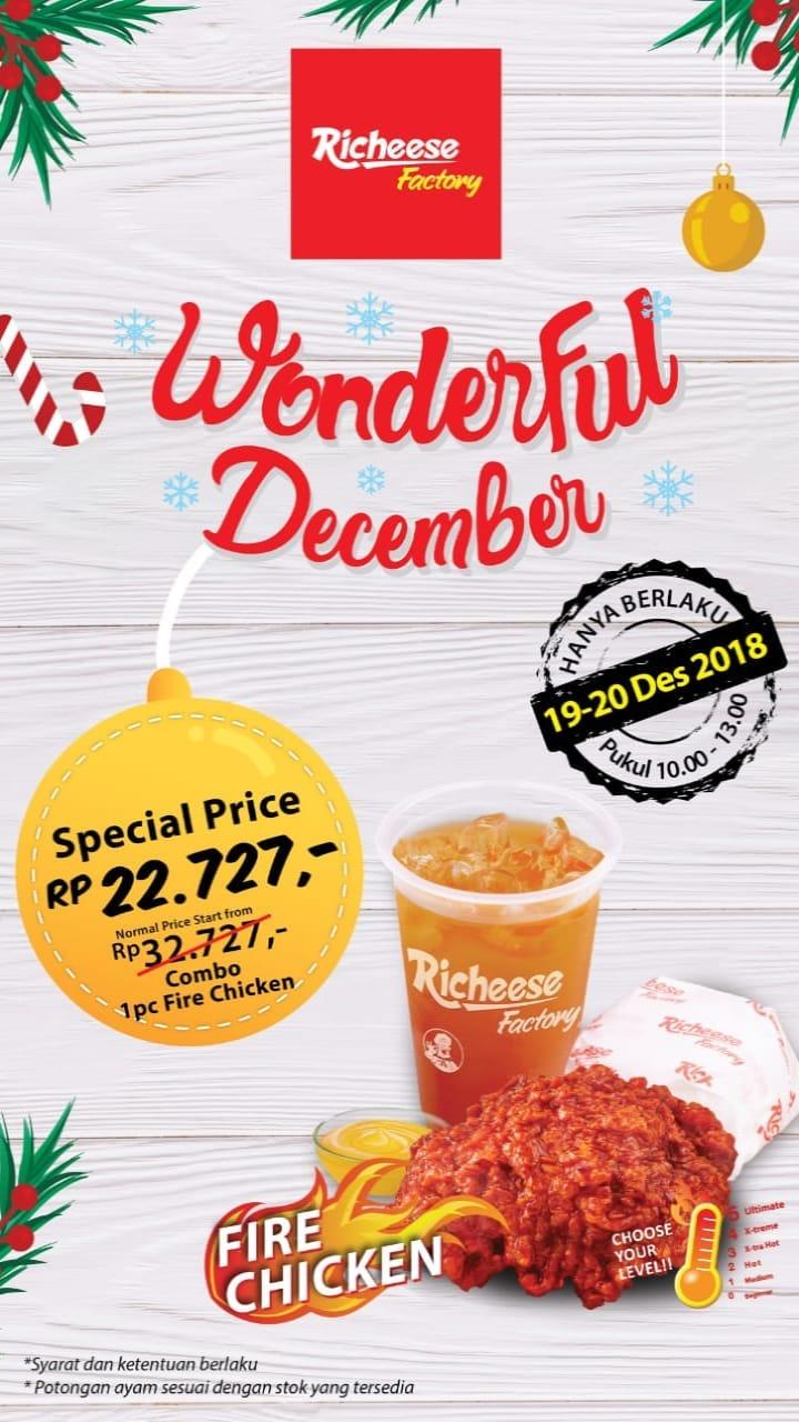 #RicheeseFactory - Promo Special Price Wonderful December (19 - 20 Des 2018)