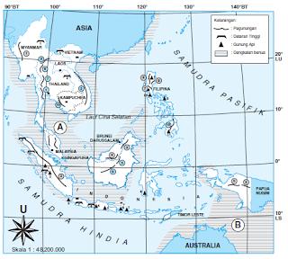 Letak Geografis Asia Tenggara Sangat Strategis Karena Terletak di Antara