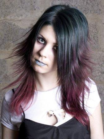 gothic hairstyles - emo