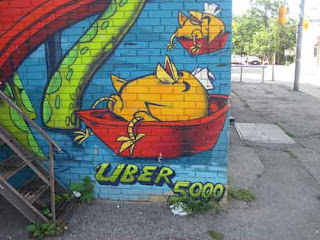 Uber 5000 Yellow Chick on Pizza Pizza