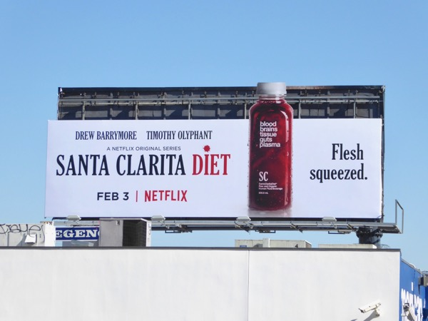 Santa Clarita Diet Flesh squeezed juice billboard