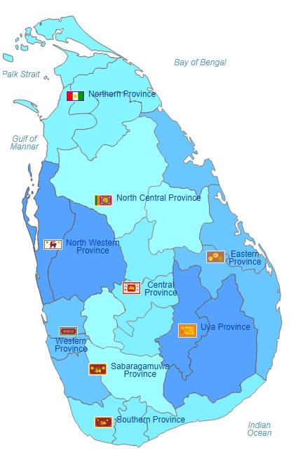 Pembagian wilayah administratif Sri Lanka