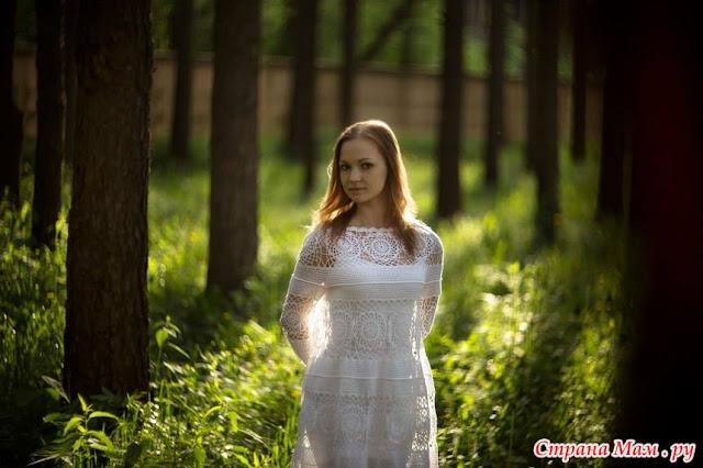 sukienka szydelkiem
