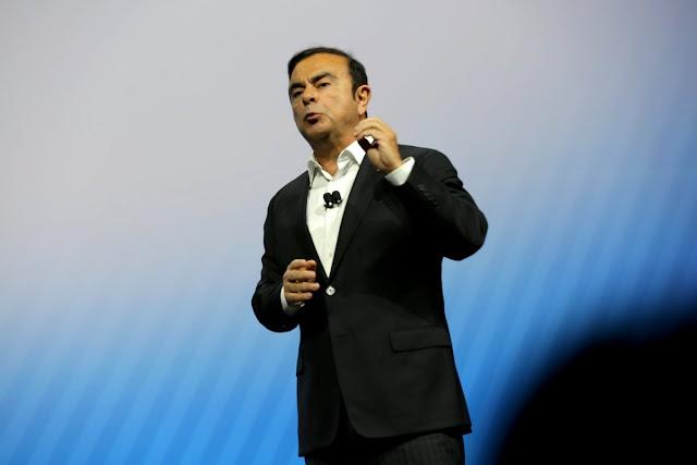 Nissan CEO Carlos Goshn At CES 2017