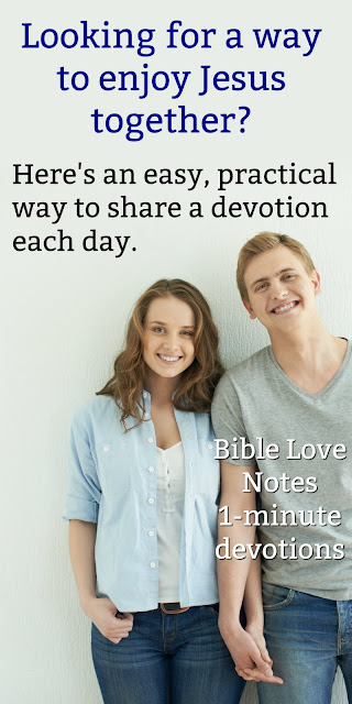 Married couples: Would you like to share a devotion each day with your spouse? Check out this great way to get a 1-minute devotion delivered to your email each weekday.