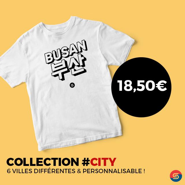 t-shirt coréen ville busan