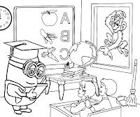 ציורים לצביעה ילדים לומדים