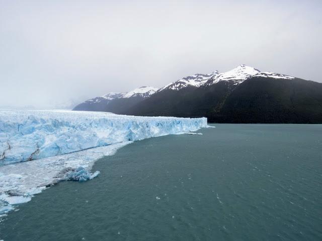 Perito Moreno Glacier and mountains beyond near El Calafate in Patagonia